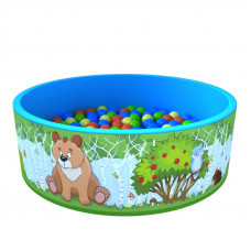 Сухой бассейн «Зверята» 100 шариков