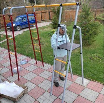 Как установить детский спортивный комплекс на даче