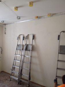 Закладные под натяжной потолок для крепления шведской стенки к натяжному потолку