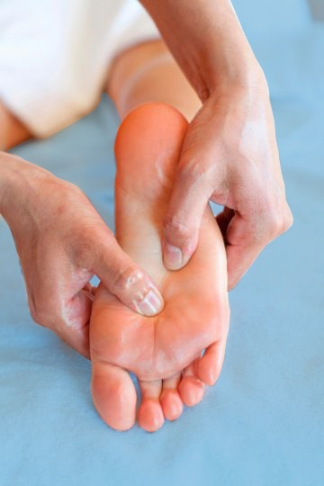 Массаж стопы ног