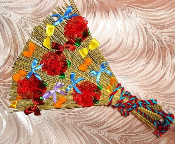 веник для детской игры метелка