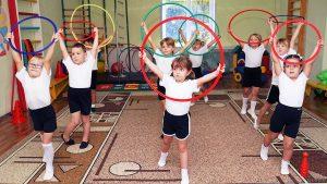 Упражнения с обручем в детском саду