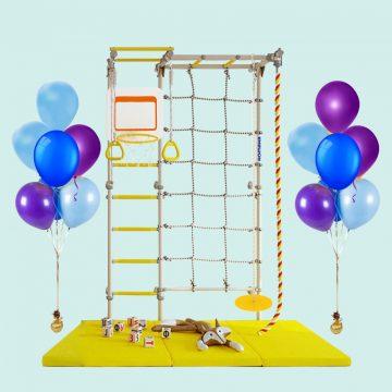 Интересные подарки для детей на День рождения: 4 причины подарить шведскую стенку