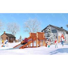 Зимняя деревянная горка САВУШКА Зима-1