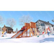 Зимняя деревянная горка САВУШКА Зима-2