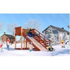 Зимняя деревянная горка САВУШКА Зима-3