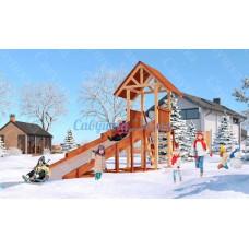 Зимняя деревянная горка САВУШКА Зима-5