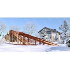 Зимняя деревянная горка САВУШКА Зима-8