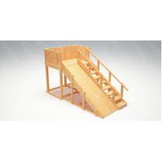 Зимняя деревянная горка САВУШКА Зима Wood-3