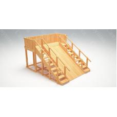 Зимняя деревянная горка САВУШКА Зима Wood-4