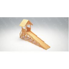 Зимняя деревянная горка САВУШКА Зима Wood-5